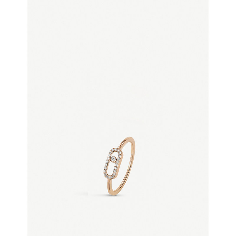 MESSIKA   Move Uno 18ct Rose-Gold And Diamond Ring   Goxip