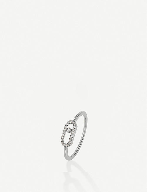 MESSIKA: Move Uno 18ct white-gold and diamond ring