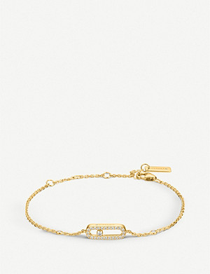 MESSIKA Move Uno 18ct yellow-gold and pavé diamond bracelet