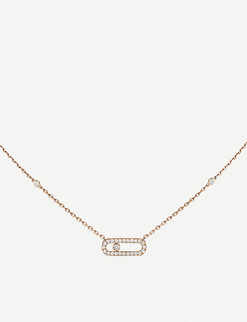 MESSIKA Move Uno 18ct pink-gold and diamond necklace