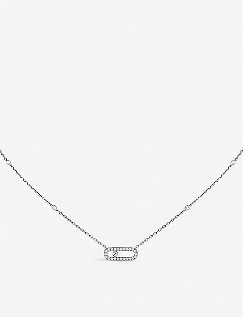 MESSIKA: Move Uno 18ct white-gold and diamond necklace