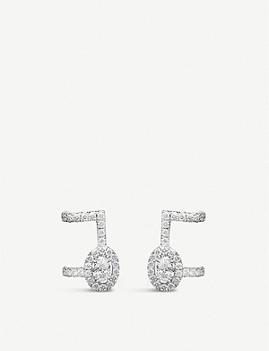 MESSIKA Glam'Azone 18ct white-gold and pavé diamond earrings