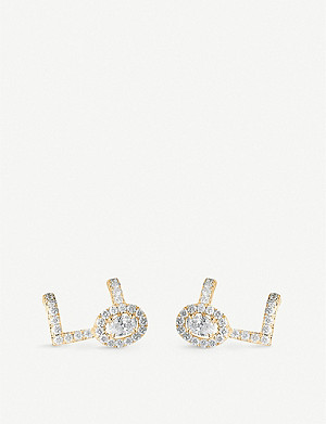 MESSIKA Glam'Azone 18ct yellow-gold and pavé diamond earrings