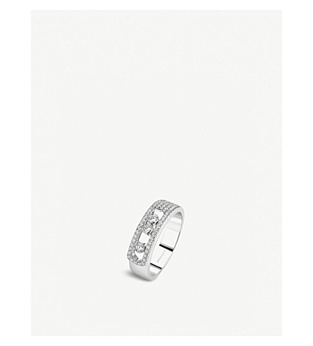 Messika Move Noa 18Ct White-Gold And PavÉ Diamond Ring In White Gold