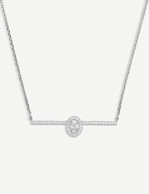 MESSIKA Glam'Azone Pav? 18ct white-gold and diamond necklace