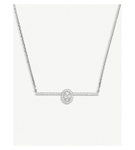 Messika Glam'Azone PavÉ 18Ct White-Gold And Diamond Necklace
