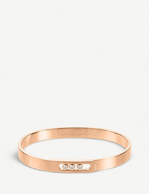 MESSIKA Move Noa 18ct pink-gold and diamond bangle bracelet