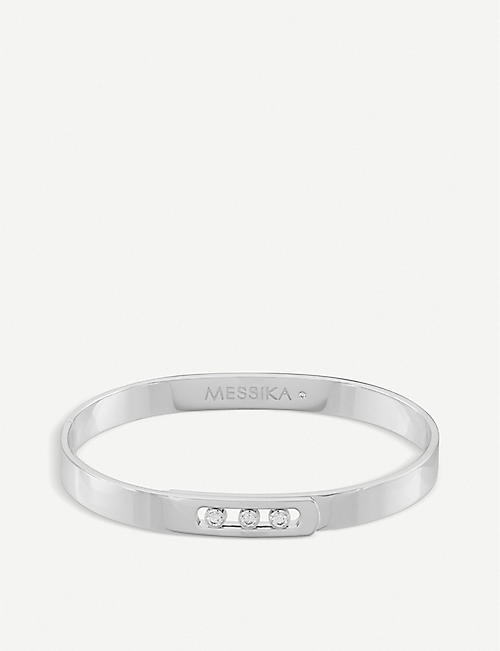 MESSIKA Move Noa 18ct white-gold and diamond bangle bracelet