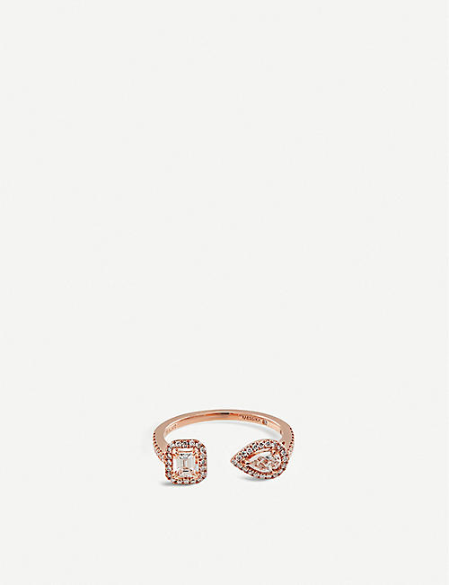 MESSIKA My Twin Toi & Moi 18ct pink-gold and diamond ring