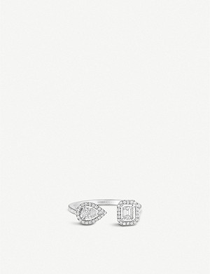 MESSIKA My Twin Toi & Moi 18ct white-gold and diamond ring