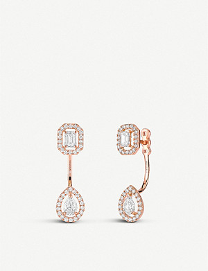 MESSIKA My Twin Toi & Moi 18ct pink-gold and diamond earrings
