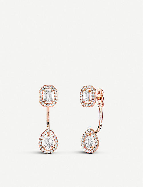 MESSIKA: My Twin Toi & Moi 18ct pink-gold and diamond earrings