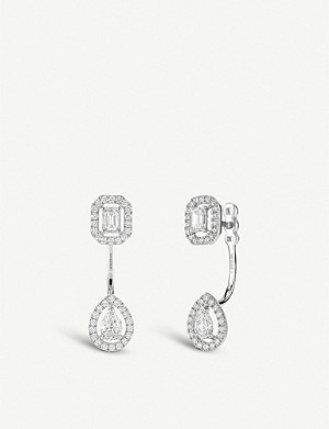 MESSIKA My Twin Toi & Moi 18ct white-gold and diamond earrings