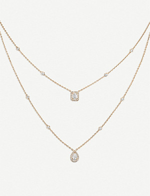 MESSIKA My Twin 18ct pink-gold and diamond necklace