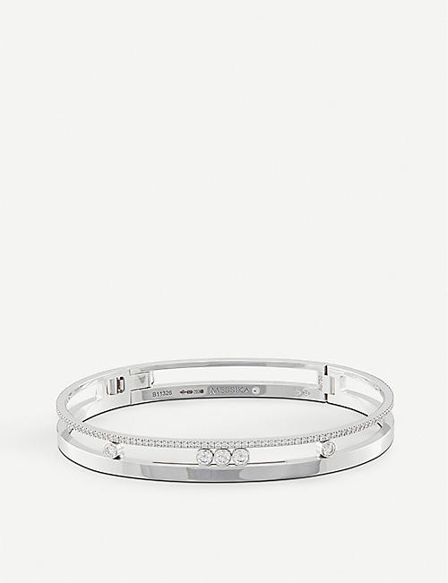 MESSIKA Move Romane 18ct white-gold and diamond bangle bracelet