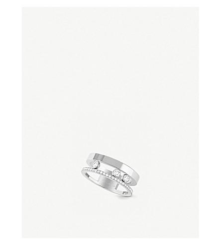 Messika MOVE ROMANE 18CT WHITE-GOLD AND DIAMOND RING