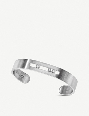 MESSIKA Move titanium and diamond-embellished cuff bracelet