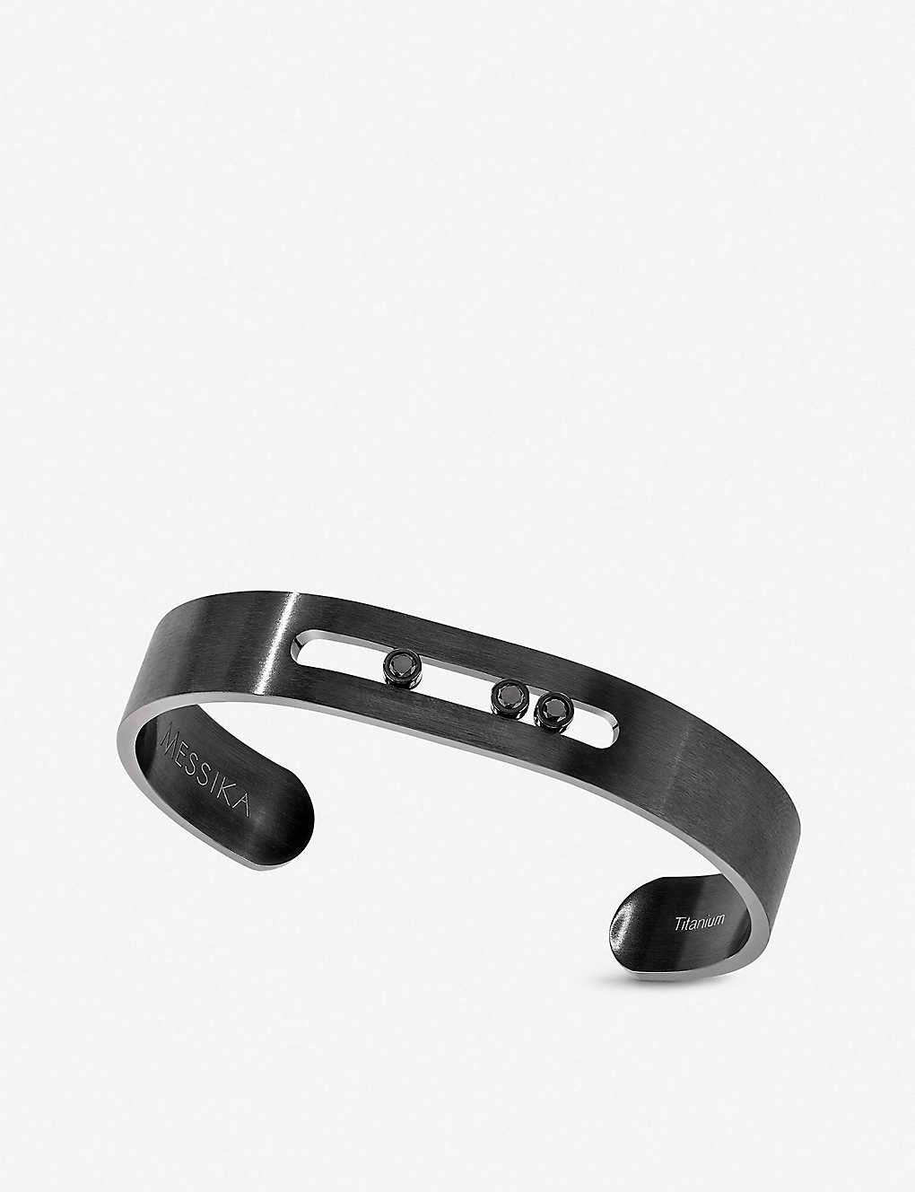 MESSIKA: Move titanium and black diamond bangle