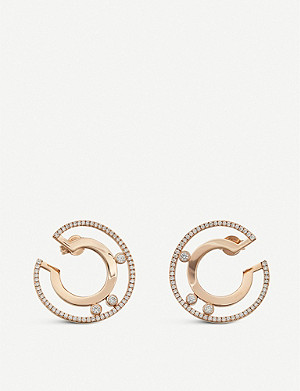 MESSIKA Move Romane 18ct pink-gold and diamond earrings