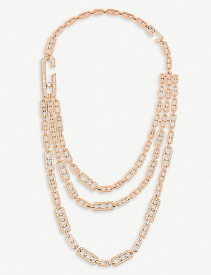 MESSIKA Move Addiction 18ct pink-gold diamond necklace