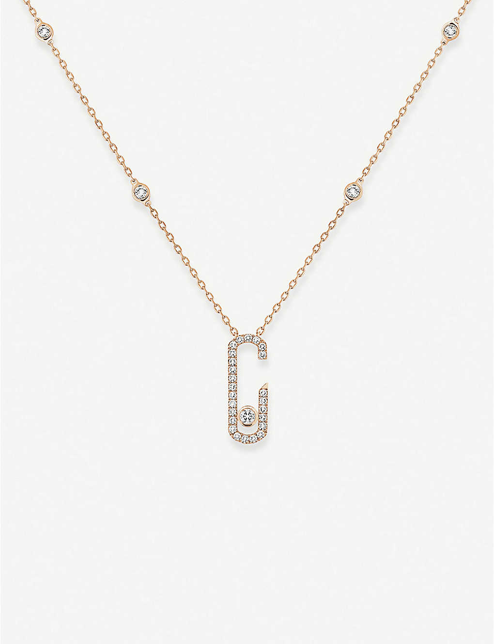 MESSIKA: Move Addiction 18ct pink-gold and diamond necklace