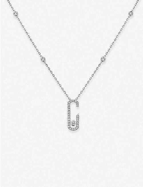 MESSIKA: Move Addiction 18ct white-gold and diamond necklace