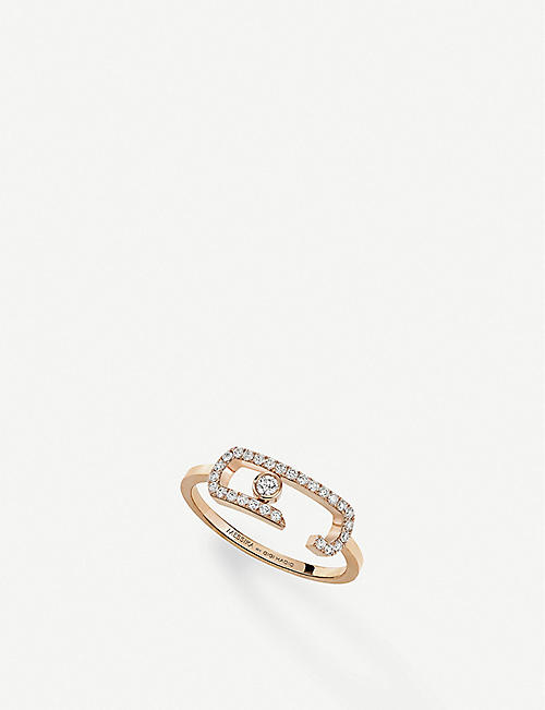 MESSIKA Gigi Hadid Move Addiction 18ct rose-gold diamond ring