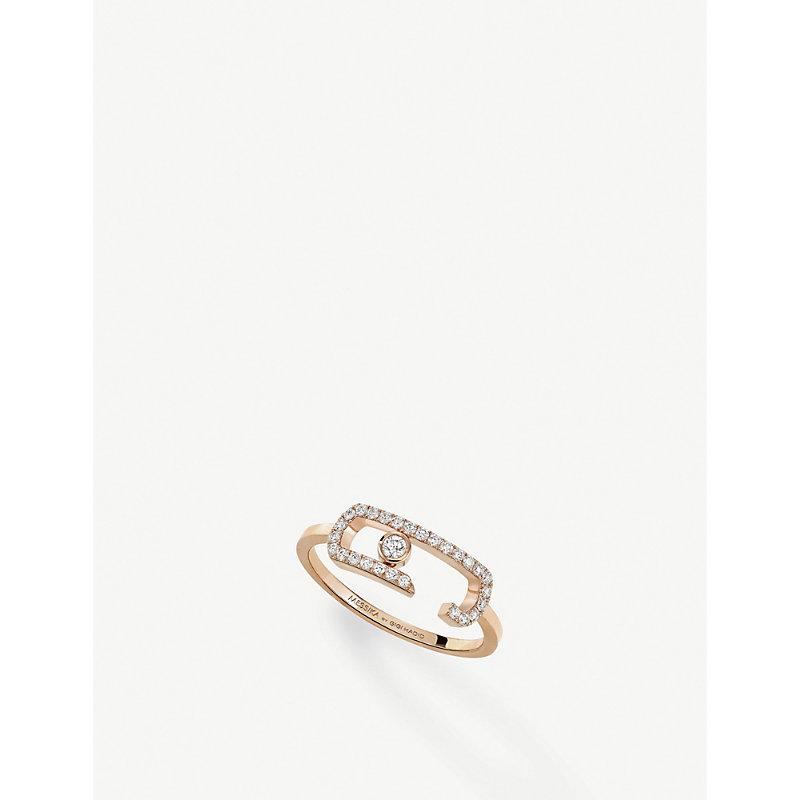MESSIKA   Gigi Hadid Move Addiction 18ct Rose-Gold Diamond Ring   Goxip
