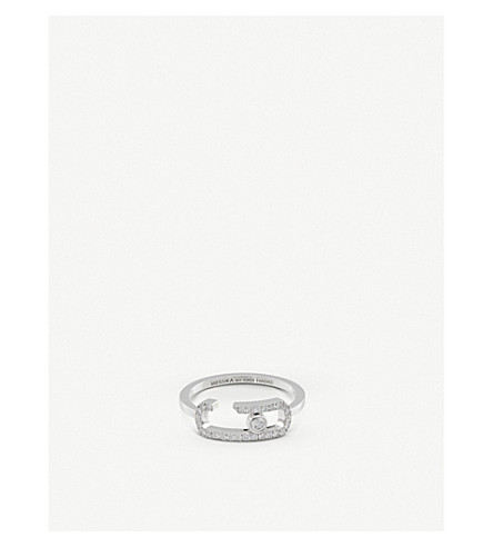 MESSIKA Gigi Hadid Move Addiction 18Ct Yellow-Gold Diamond Ring in White