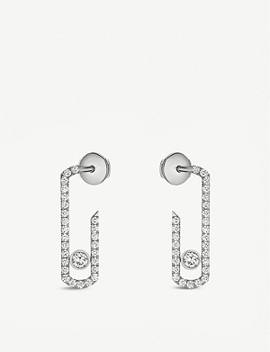 MESSIKA Gigi Hadid Move Addiction 18-carat-white-gold diamond earrings