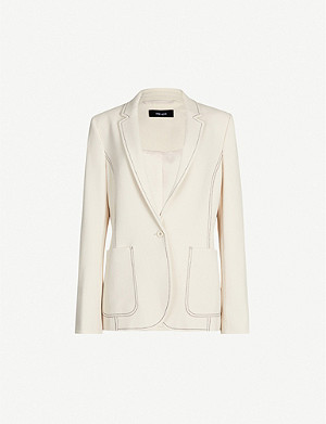 ME AND EM Exposed-stitch woven blazer