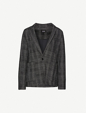 ME AND EM Checked cotton-blend blazer