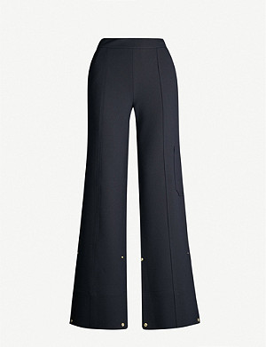 ME AND EM Transformer convertible-cuff high-rise crepe trousers