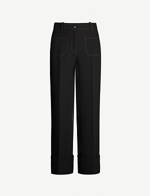 ME AND EM Patch-pocket woven trousers