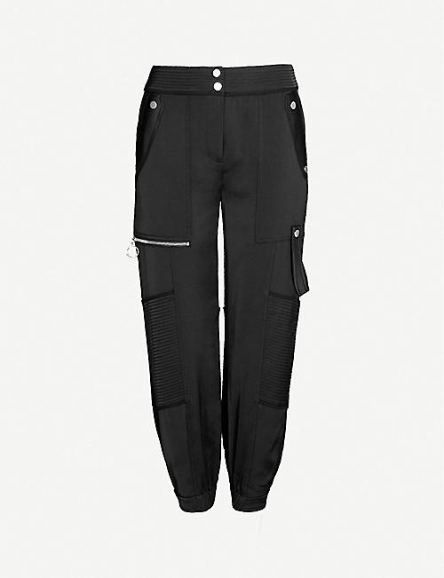 ME AND EM Cropped woven jogging bottoms