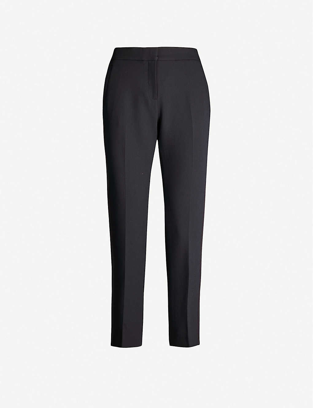 ME AND EM: Grosgrain-trim tapered mid-rise trousers