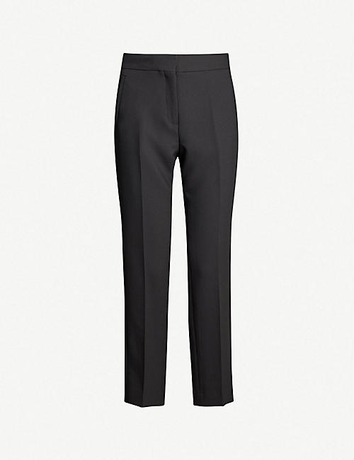 ME AND EM Slim-fit cropped woven trousers