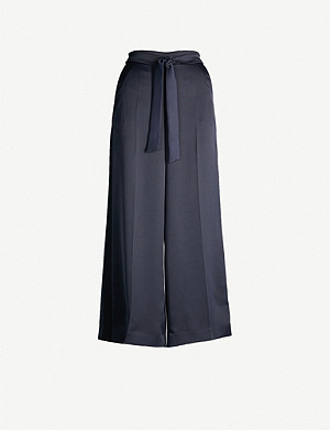 ME AND EM Waist-tie wide high-rise crepe trousers