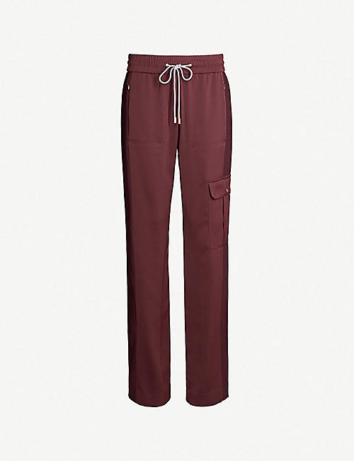 ME AND EM Side-stripe crepe trousers