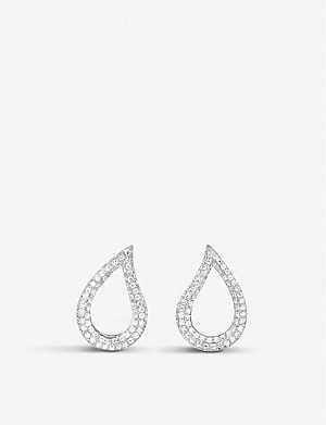 BUCHERER FINE JEWELLERY Lacrima 18k white-gold and diamond earrings