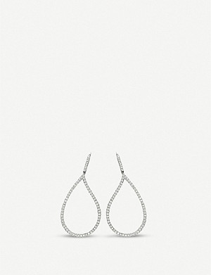 BUCHERER FINE JEWELLERY Lacrima 18ct white-gold and diamond earrings