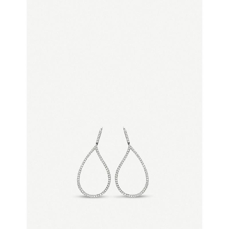 BUCHERER | Lacrima 18ct White-Gold And Diamond Earrings | Goxip