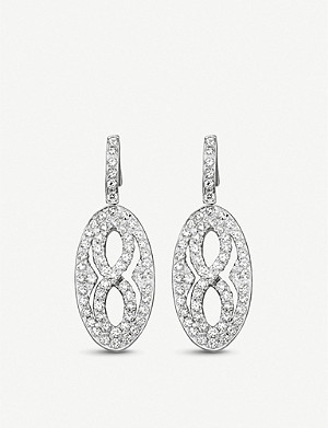 BUCHERER FINE JEWELLERY Vivelle 18ct white-gold and diamond earrings