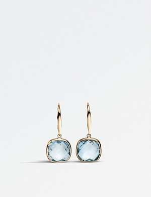 BUCHERER FINE JEWELLERY 18ct rose-gold and topaz earrings