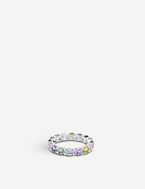 BUCHERER FINE JEWELLERY Pastello 18ct white-gold and sapphire ring
