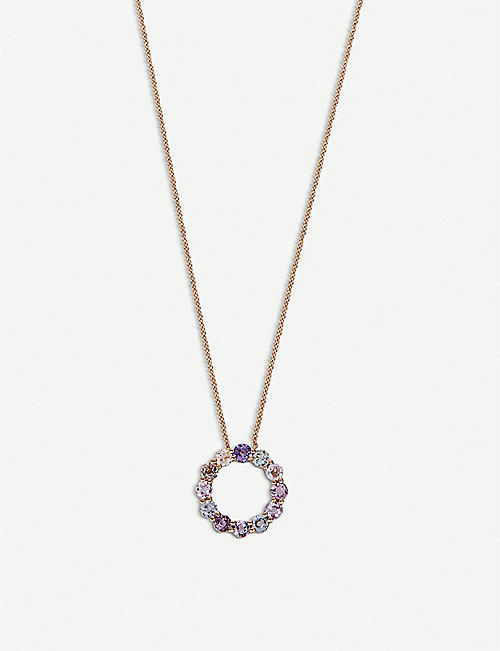 BUCHERER FINE JEWELLERY 18ct gold and sapphire pendant necklace