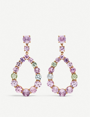 BUCHERER FINE JEWELLERY Pastello 18ct rose-gold and sapphire earrings