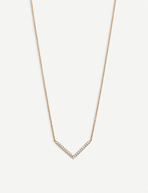 BUCHERER FINE JEWELLERY Geometrix 18ct rose-gold and diamond necklace