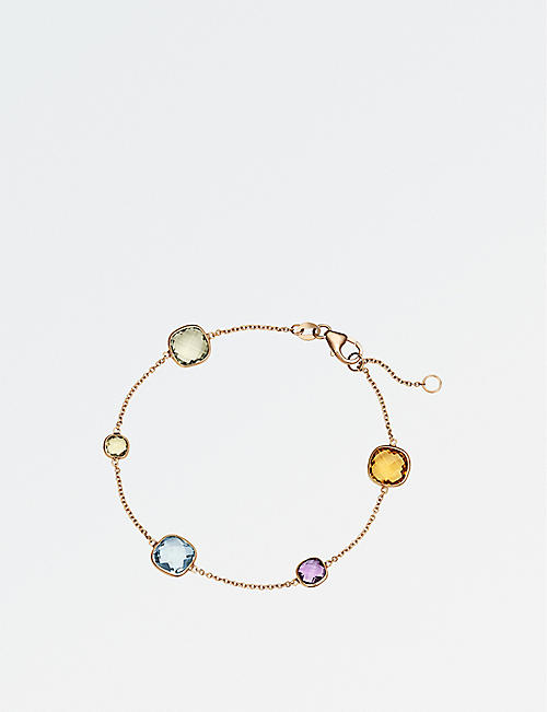 BUCHERER FINE JEWELLERY: Colour Drops 18ct rose-gold bracelet