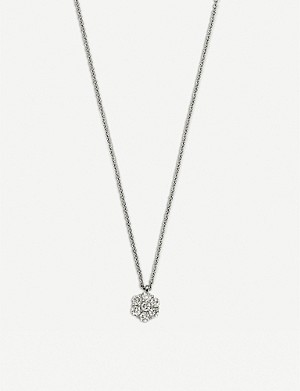BUCHERER FINE JEWELLERY Classics 18ct white-gold diamond pendant necklace